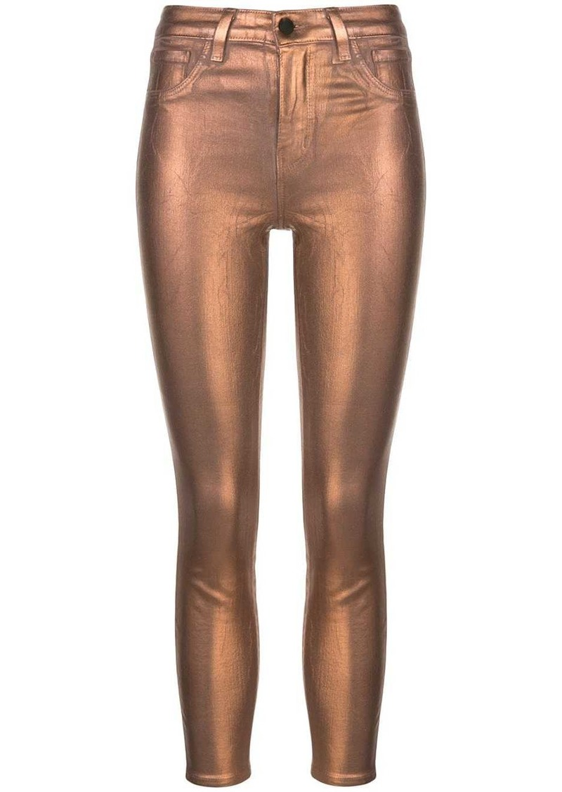 L'Agence Margot metallized skinny jeans