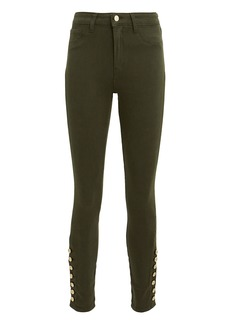 L'Agence Margot Piper Army High-Rise Ankle Skinny Jeans