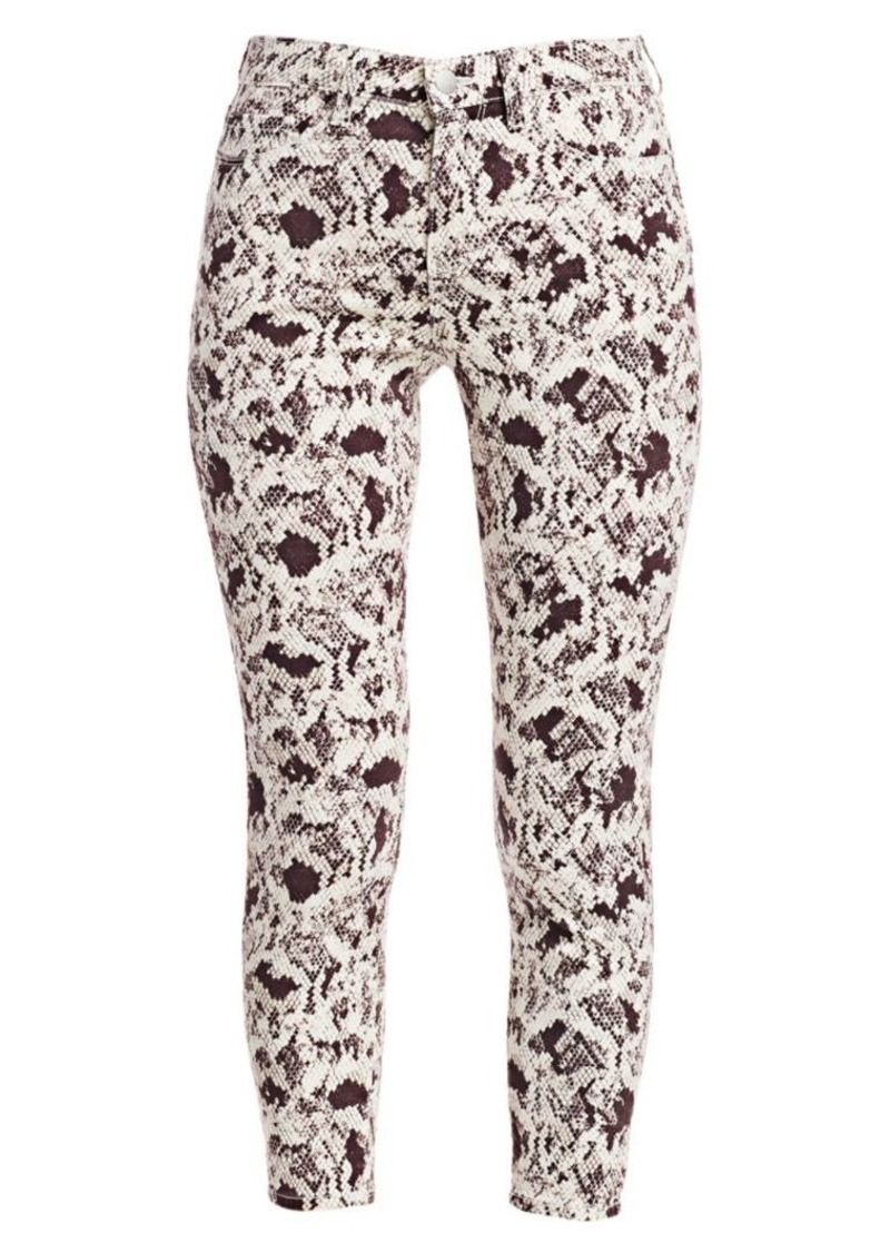 L'Agence Margot Python Print Skinny Jeans