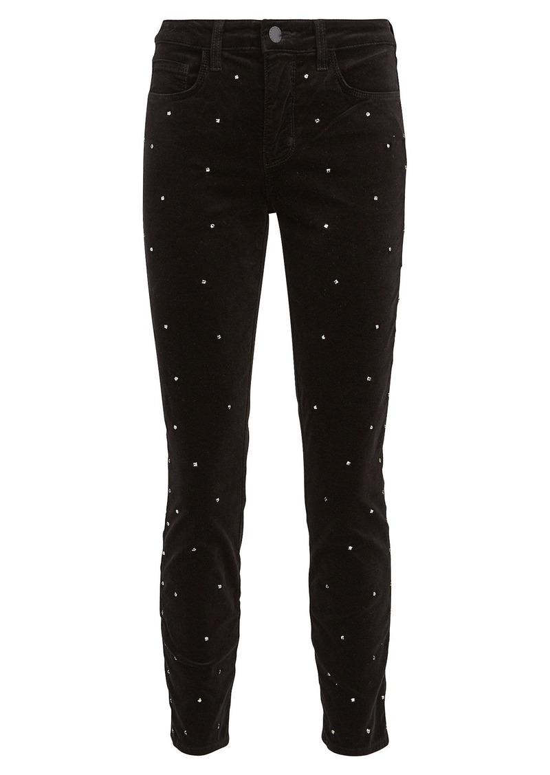 L'Agence Margot Scattered Crystal Skinny Jeans