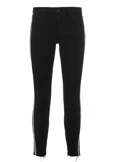 L'Agence Margot Sequin Stripe High-Rise Ankle Skinny Jeans