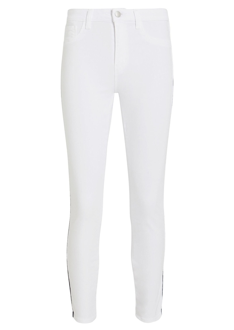 L'Agence Margot Striped Skinny Jeans