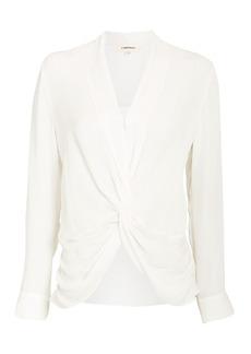 L'Agence Mariposa Twisted Silk Blouse