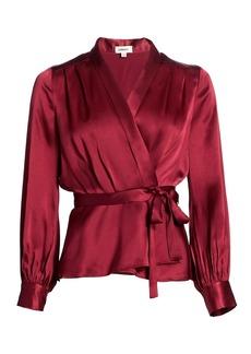 L'Agence Marsden Silk Wrap Top