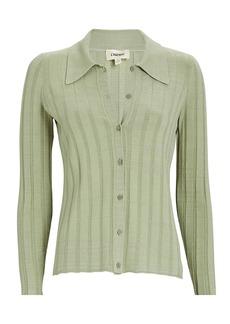 L'Agence Naya Rib Knit Polo Cardigan
