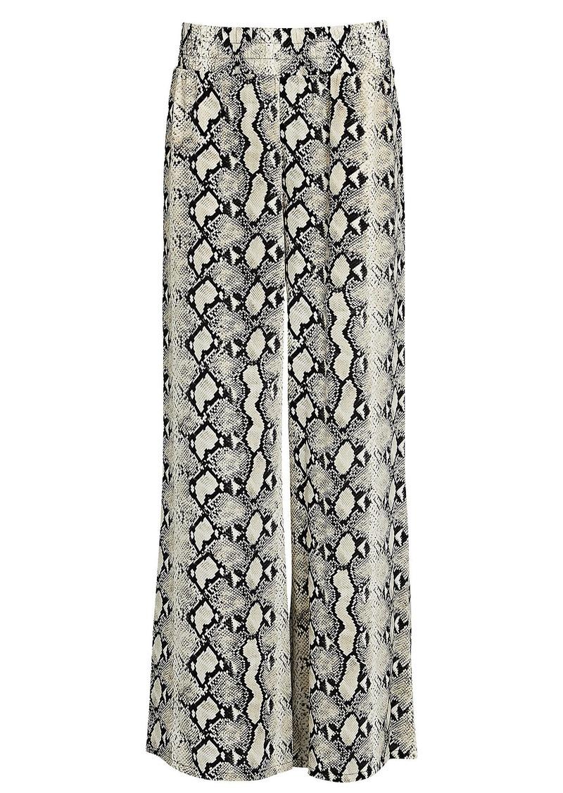 L'Agence Oaklyn Python-Printed Silk Pants