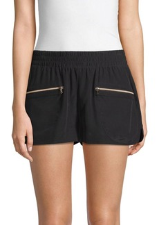 L'Agence Odie Silk Shorts