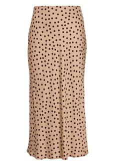 L'Agence Perin Polka Dot Slip Skirt