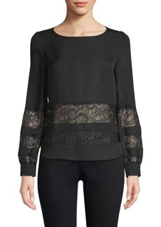 L'Agence Petra Lace Panel Blouse