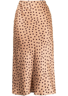 L'Agence polka dot straight skirt