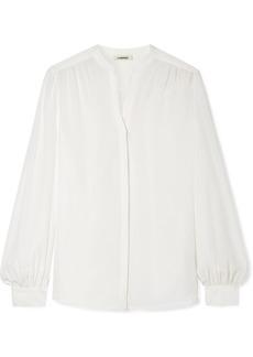 L'Agence Raquel Button-detailed Silk Blouse