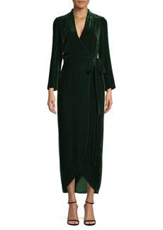 L'Agence Reliah Velvet Wrap Dress