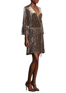 L'Agence Riley Velvet Wrap Dress
