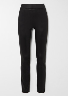 L'Agence Rochelle Coated High-rise Skinny Jeans