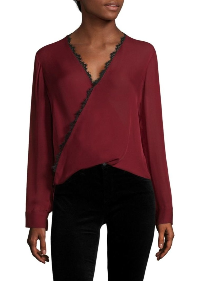52544ff56fdee L Agence Rosario Lace Trimmed Silk Top