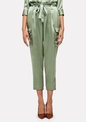 L'Agence Roxy Silk Paperbag Cargo Pants