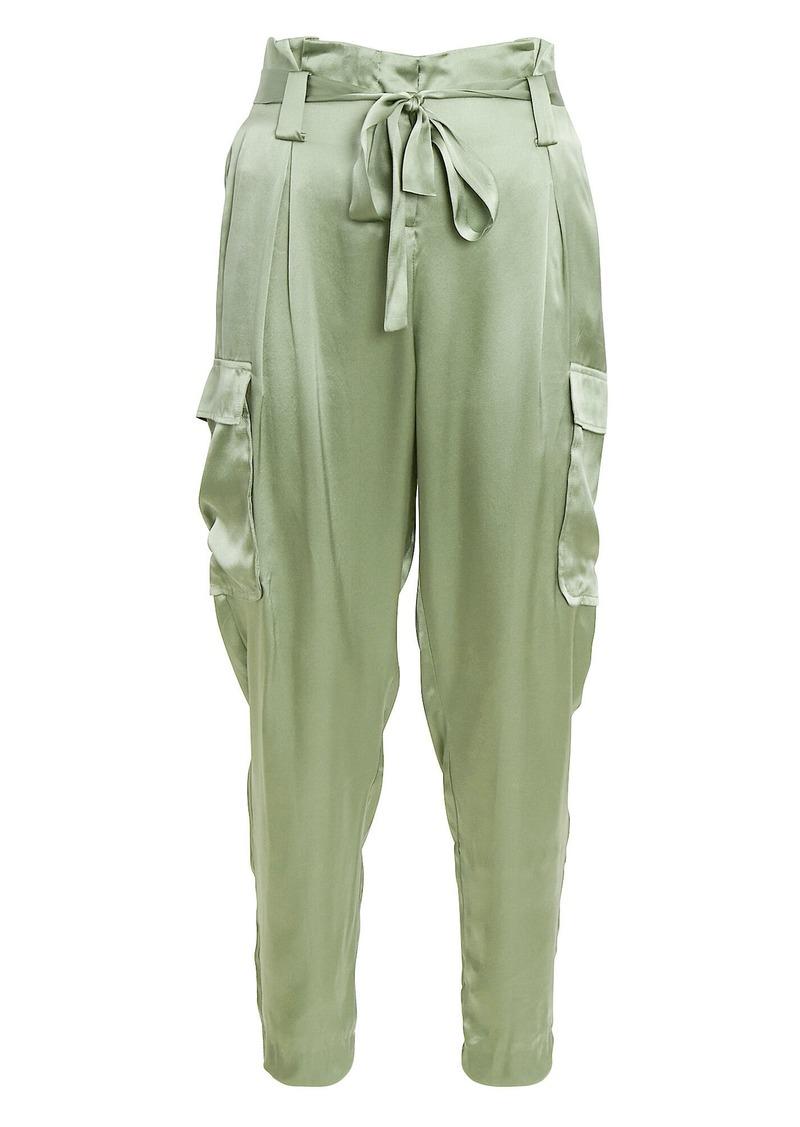 Roxy Silk Paperbag Cargo Pants