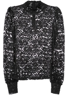 L'Agence ruffled neck top