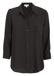 L'Agence Ryan Three-Quarter Sleeve Black Blouse