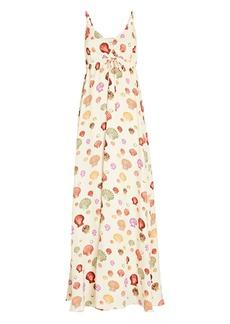 L'Agence Sachi Shell Crepe Maxi Dress