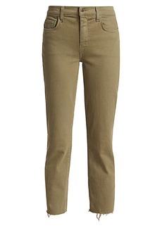 L'Agence Sada High-Rise Crop Slim Straight Jeans