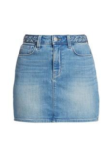 L'Agence Shannon Braided Mini Skirt