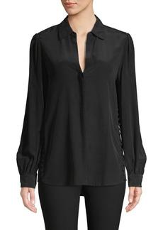 L'Agence Side Button Silk Tunic