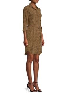L'Agence Silk Stella Cheetah Shirtdress