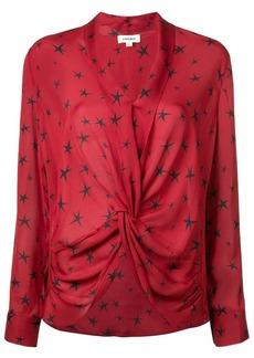 L'Agence star print blouse