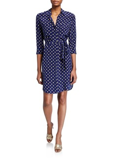L'Agence Stella-Dotted Shirtdress