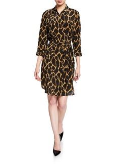 L'Agence Stella Printed Short Shirt Dress