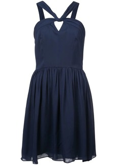 L'Agence strappy neck flared dress