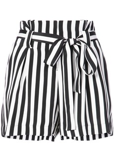 L'Agence striped shorts