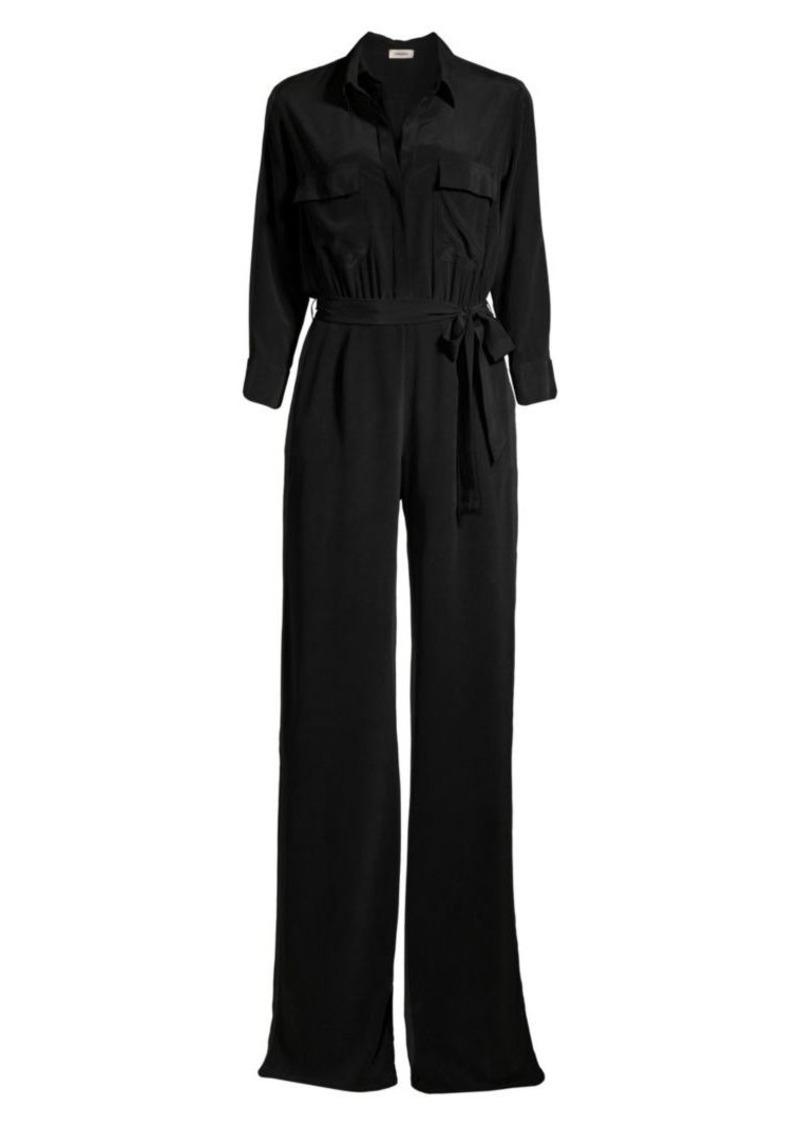 L'Agence Teddy Silk Slit Jumpsuit