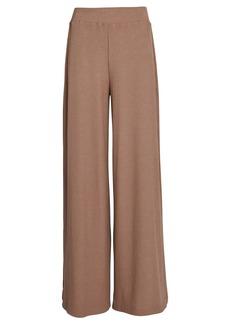 L'Agence The Crawford Rib Knit Wide-Leg Pants