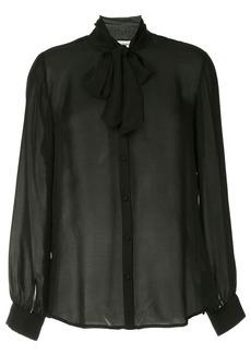 L'Agence tie neck blouse