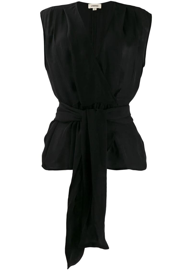 L'Agence tie-waist blouse