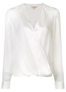 L'Agence wrap front blouse