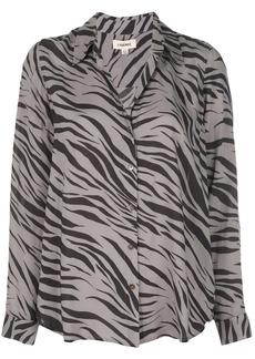 L'Agence Zebra printed shirt