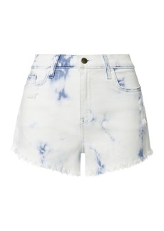 L'Agence Zoe Bleached Cut Off Shorts