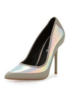 LAMB Bethel Iridescent Pointed-Toe Pump
