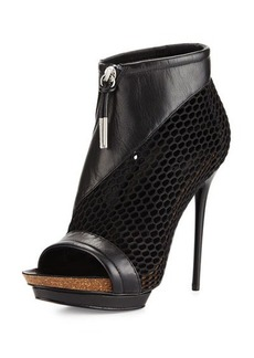 L.A.M.B. Bicara Mesh/Leather Platform Sandal