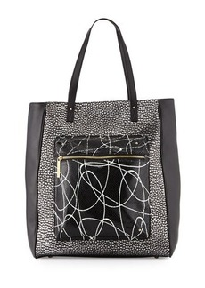 LAMB Ibis Metallic Leather Tote Bag