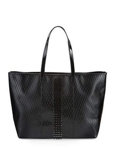 L.A.M.B. Jinger Studded Leather Tote Bag