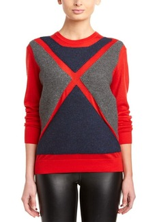 L.A.M.B. L.A.M.B. Wool Ribbed Flag Sweater