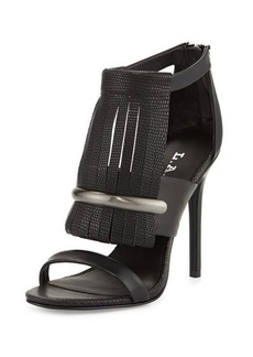 L.A.M.B. Media Fringe Leather Sandal