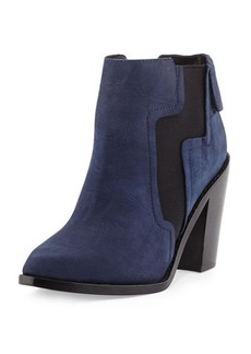 LAMB Mojo Crocodile-Embossed Bootie