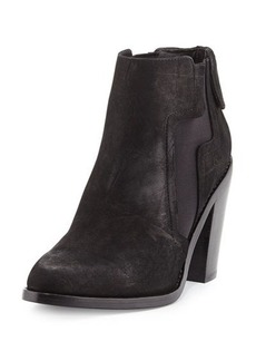 L.A.M.B. Mojo Crocodile-Embossed Leather Bootie