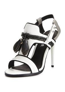 L.A.M.B. Voice Leather Tassel Sandal