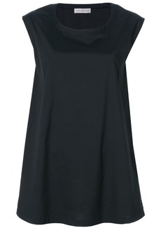 Lamberto Losani flared tank top - Black